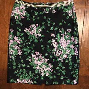 Talbots Navy Floral Skirt